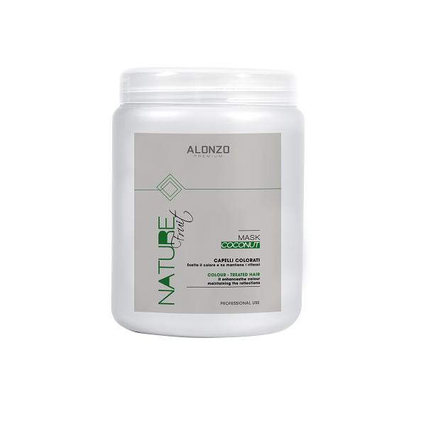Kem hấp Alonzo Nature dưỡng chất với tinh dầu dừa dành cho tóc nhuộm